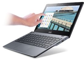 Acer C720P 11.6-Inch HD Touchscreen Chromebook