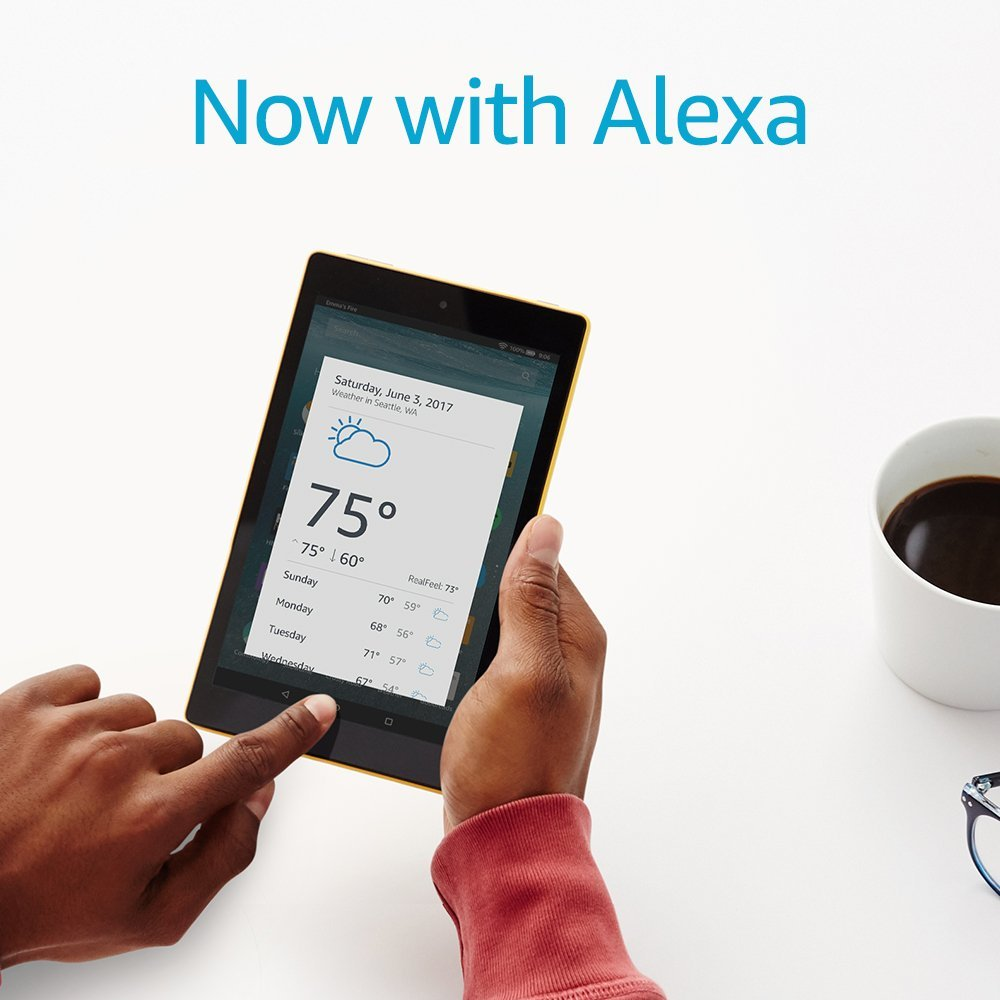 All-New Fire 7 Tablet with Alexa, 7 inch screen display