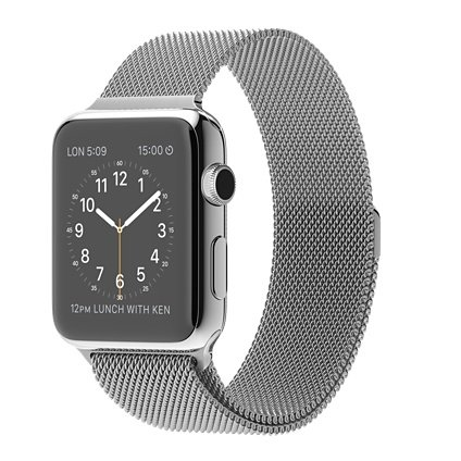 Apple Watch 42mm Stainless Steel Case with Milanese Loop Smartwatch