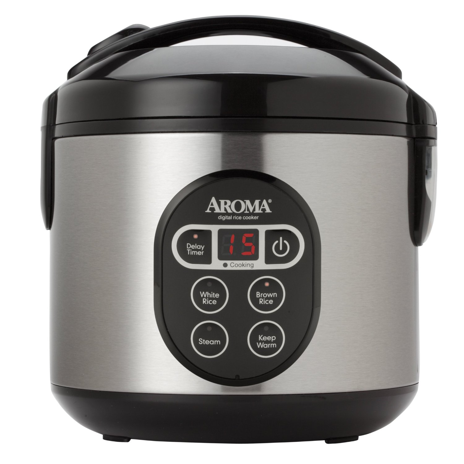 Aroma 8-Cup (Cooked) Digital Rice Cooker and Food Steamer