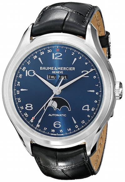 Baume & Mercier Clifton 10057 - Analog Display Swiss Automatic Black Watch