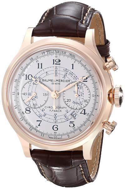 Baume & Mercier Men's Capeland A10007 - Analog Display Swiss Automatic Brown Watch