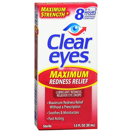 Clear Eyes Maximum Strength - Redness Relief Eye Drops