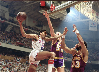 Dr. J Behind the Backboard Layup finals