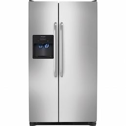 Frigidaire Stainless Steel Side-By-Side Refrigerator Closed