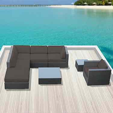 Luxxella Outdoor Sofa Set Beruni 8 Pcs Modern Set
