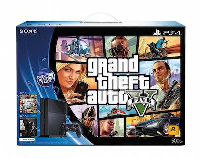 PlayStation 4 Bundle: Grand Theft Auto V and The Last of Us Remastered