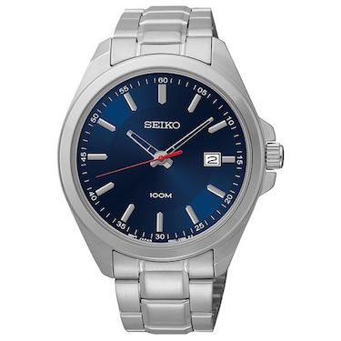 Seiko Three-Hand Silver-Tone Stainless Steel Men's watch