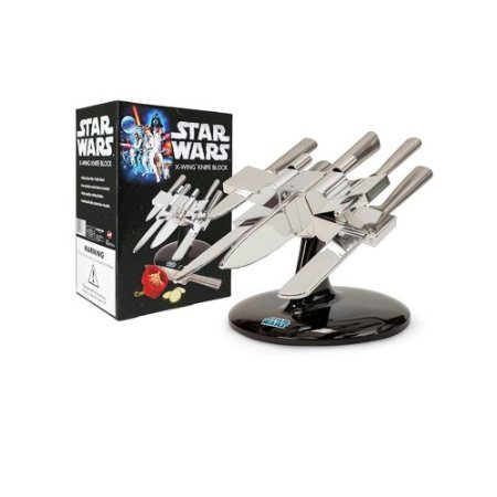 Star Wars X-Wing Knife Block -  Set of Stainless Steel Knives
