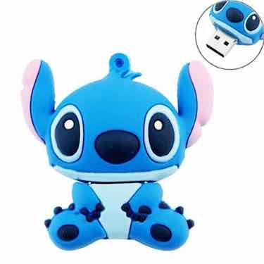 niceEshop 8GB Cute Cartoon Stitch Shaped USB Flash Drive