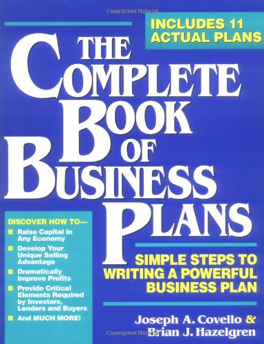The Complete Book of Business Plans book