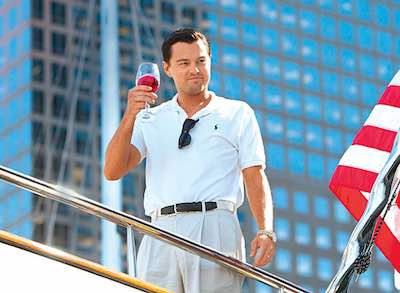 The Wolf of Wall Street - Leonardo DiCaprio on a boat