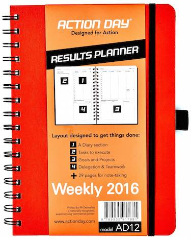Action Day Weekly Planner 2016