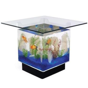 5) 15 Gallon Aqua End Table Aquarium