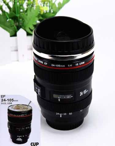 Stainless Steel Camera Lens Thermos