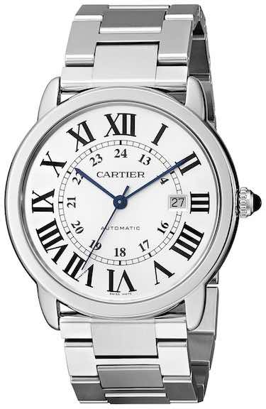 Cartier Ronde Stainless Steel Watch