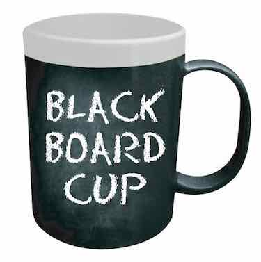 Chalk Board Coffee Mug - funny coffee mugs