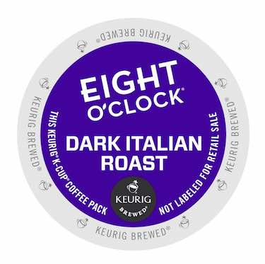 Eight O'Clock Coffee Dark Italian Roast, Keurig K-Cups, 72 K-Cup