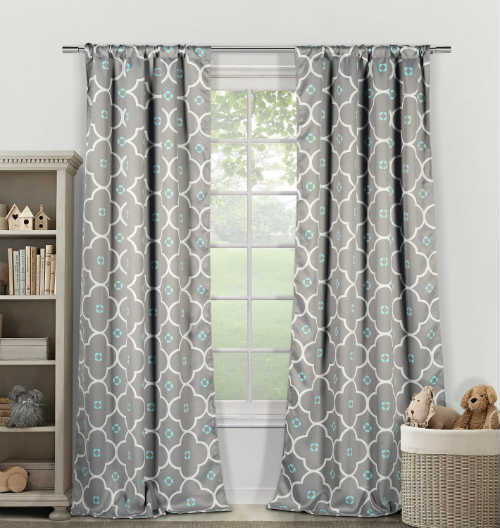 Duck River Textiles Grey Blue Blackout Curtains