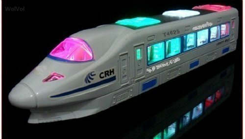 Electric Train Toy with Lights