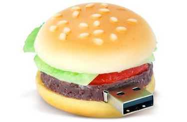D-CLICK High Quality Hamburger USB Flash Memory Stick