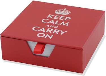 Keep Calm and Carry On Boxed Desk Notes