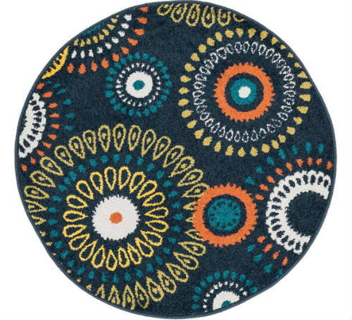 Elegant 4) Loloi Rugs Terrace Indoor/Outdoor Round Area Rug