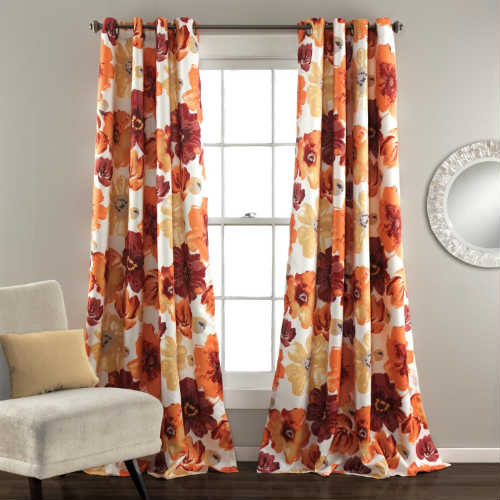 Lush Decor Leah Blackout Window Curtain Panel