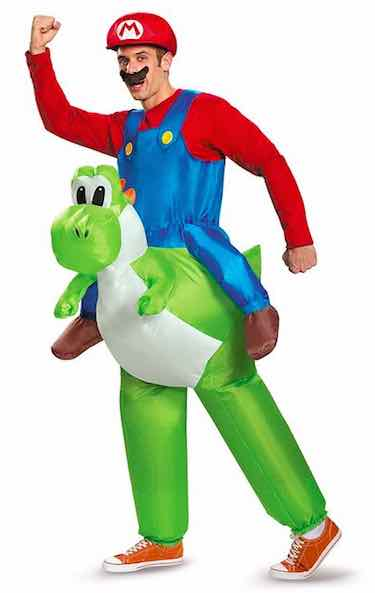 Men's Mario Riding Yoshi Costume