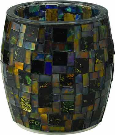 Mosaic Glass Table Top Solar Patio Light