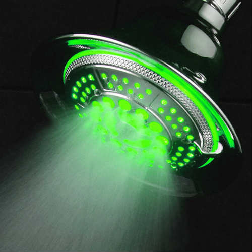 Multicolor LED Shower Head