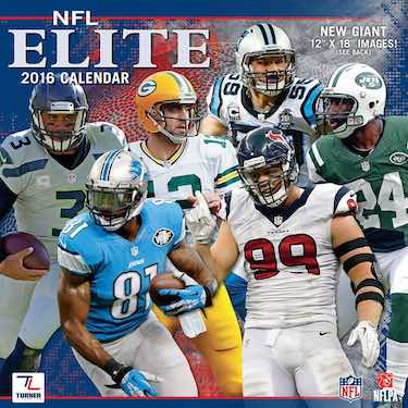 NFL Elite 2016 Wall Calendar