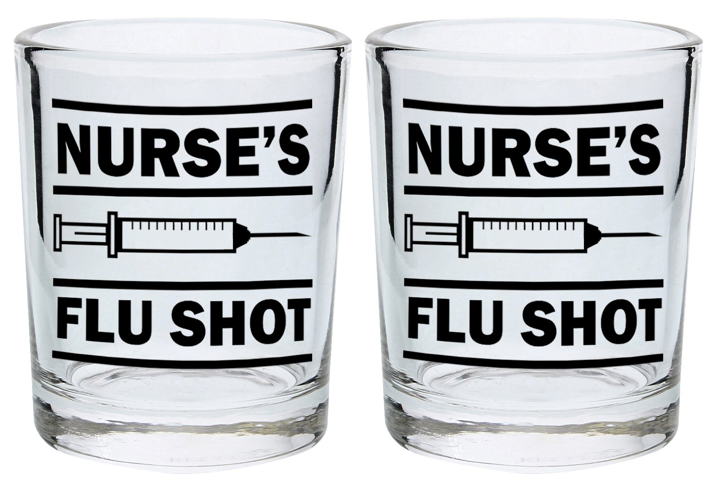 nurse's flu shot shot glass
