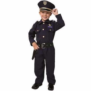 Deluxe Police Dress Up Costume