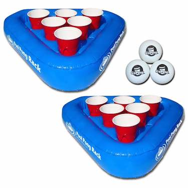 Pool Pong Floating Beer Pong Set - beer pong accessories