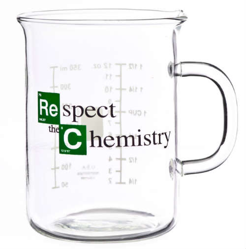 Respect the Chemistry Beaker Mug