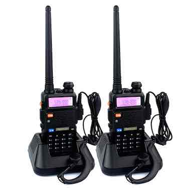 Retevis RT-5R 2 Way Radio UHF/VHF 136-174/400-520 MHz Dual Band Dual Standby DTMF/CTCSS/DCS FM Walkie Talkies Ham Radio