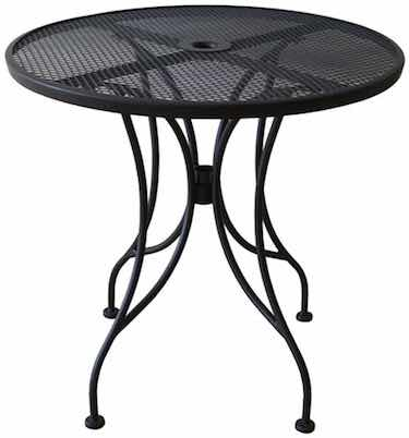 Black Mesh Top Outdoor Table