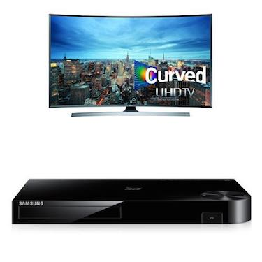 Samsung UN48JU7500 Curved 48-Inch TV with BD-H6500 Blu-ray Player