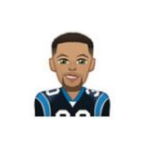 Steph Curry in a Cam Newton jersey
