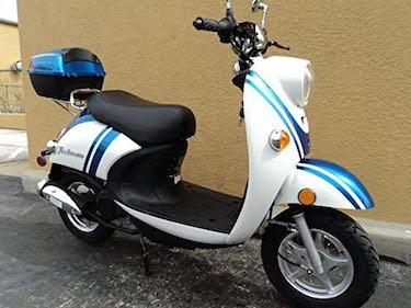 TaoTao CY50-B BLUE 49cc Gas Automatic Scooter - street legal mopeds