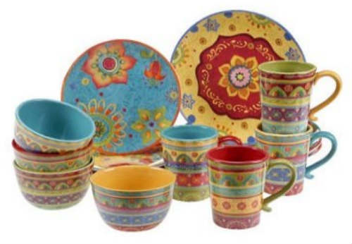 Tunisian Sunset Ceramic 16-Piece Dinnerware Set