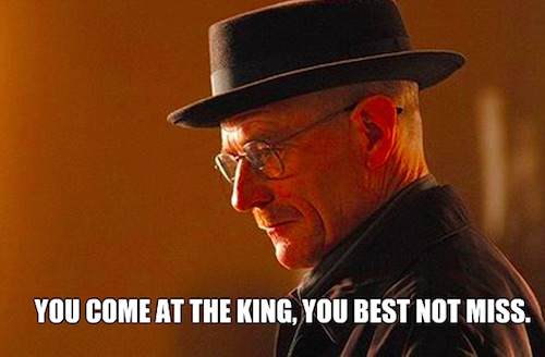 Walter on being King
