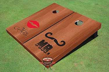 Mr. and Mrs. Wedding Themed Cornhole Boards