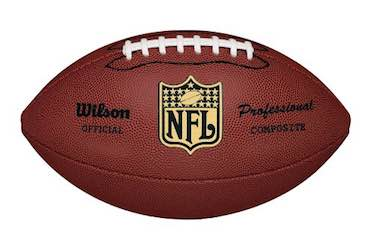 Wilson NFL Pro Replica Game Football (Official Size)