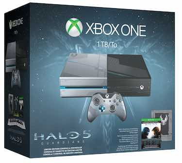 1 xbox one 1tb console halo 5 guardians limited edition bundle