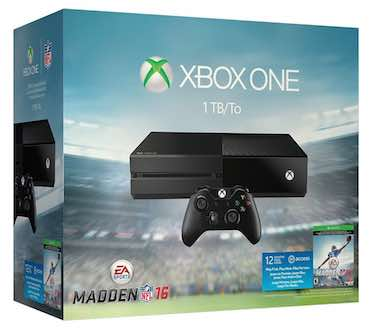 Xbox One 1TB Console - Madden NFL 16 Bundle